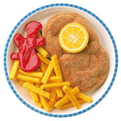 Cotoletta di carne con patate fritte