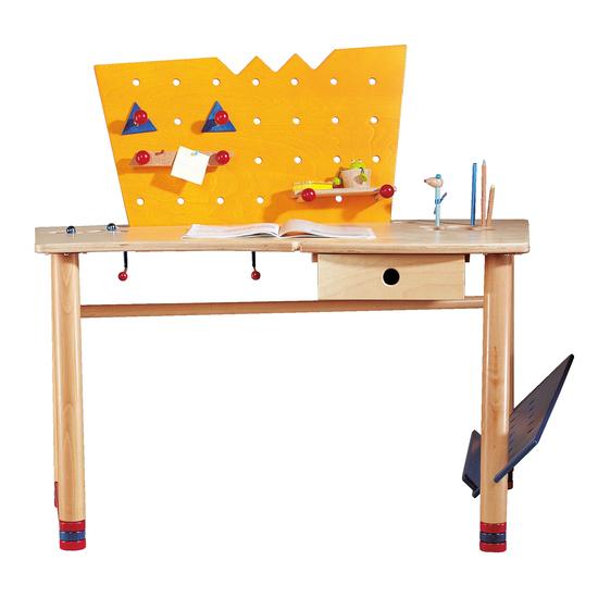 Schreibtisch Skribbel Kindermöbel Kinderzimmer Haba Erfinder
