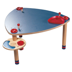 Games table, blue/yellow