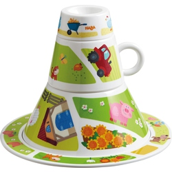 Tableware tower On the Farm