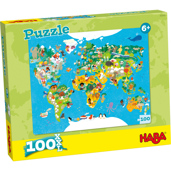 Puzzle World Map Children S Jigsaw Puzzles Games Books Haba