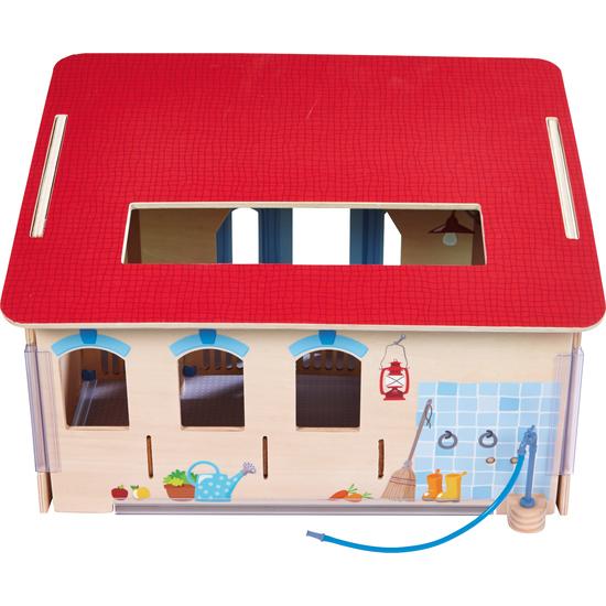 Haba 302168 Little Friends Puppenstuben & -häuser Pferdestall Puppe