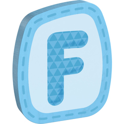 Lettera in legno F