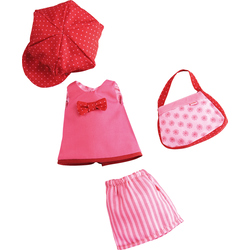 Dress Set Rose red