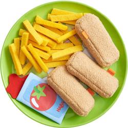 Bastoncini di pesce e patatine fritte