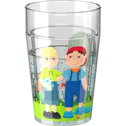 Vaso con destellos La amistad de Little Friends