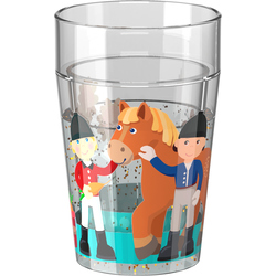 Vaso con destellos Las cuadras de Little Friends