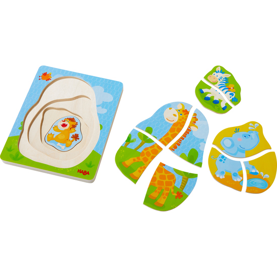 Wooden puzzle Wild animals | Children's Jigsaw Puzzles | Games