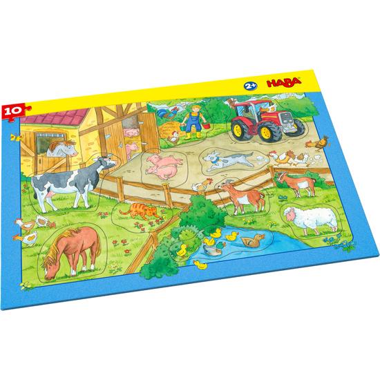 Puzzle En Marco Granja Puzzles Para Ninos Juegos Y Libros Haba