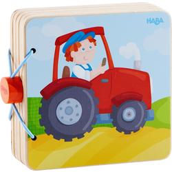Wooden Baby book Tractor