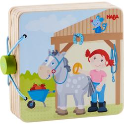 Wooden Baby book Pony farm