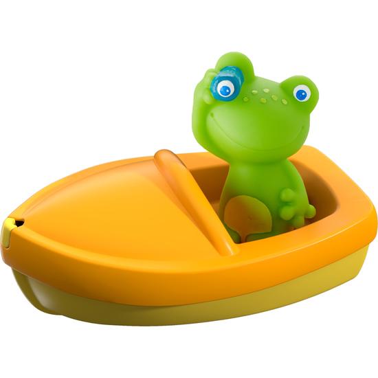 barquito de baño rana a la vista juguetes para el agua